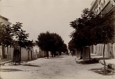 Carretas en una calle de La Paz