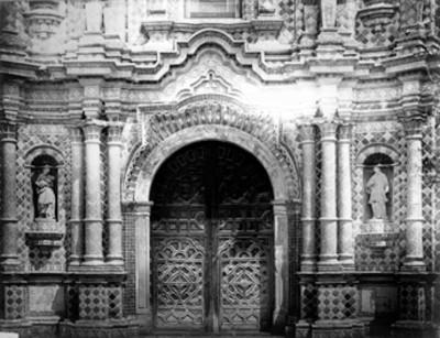 Portada de la Iglesia de San Francisco, Acatepec
