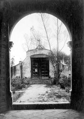 Puerta del atrio de la Iglesia del Ex-Convento de Churubusco