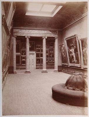 Sala de pintura en la Academia de San Carlos, interior