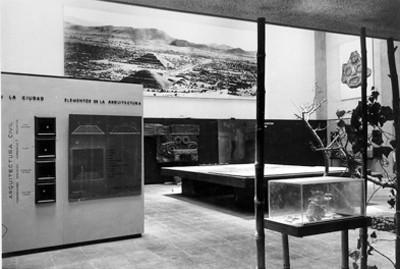 Vista de sala de exhibición del museo en Teotihuacán