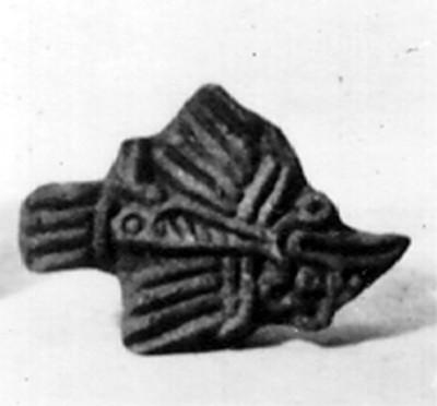 Sello mexica en forma de punta de lanza