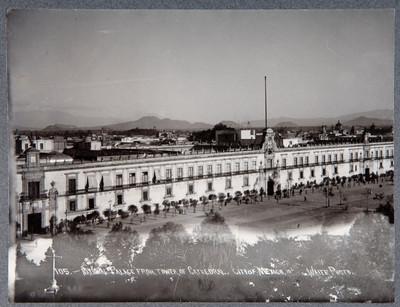 "Palacio Nacional vista desde Catedral. ""National Palace from tower of Cathedral. City of México"""