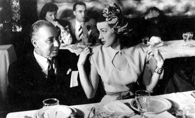 """""""Blumenthal"""" con mujer en un banquete"""