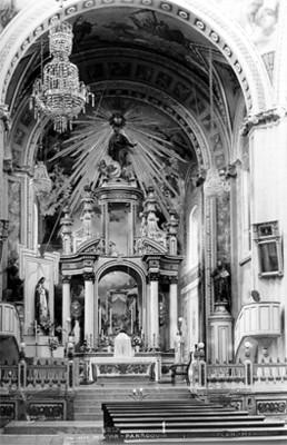 """""""Altar mayor. Parroquia de Tepotzotlán"""", tarjeta postal"""