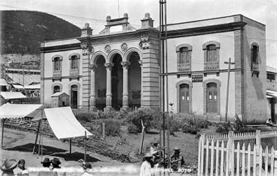 """""""Teatro Juárez, El Oro"""", tarjeta postal"""