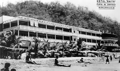 """Hotel Anita, playa de Santiago"", tarjeta postal"
