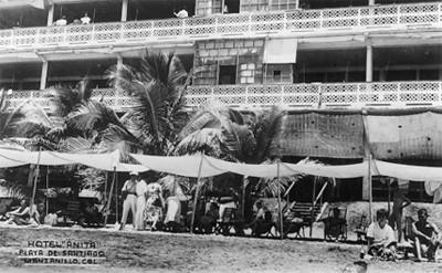 Hotel Anita en la playa de Santiago, tarjeta postal