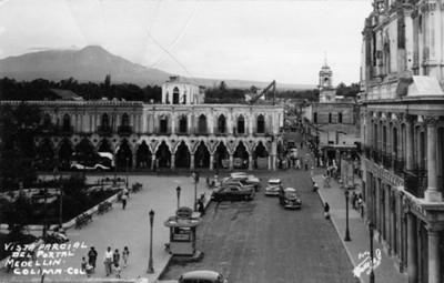 """""""Vista parcial del Portal Medellín"""", tarjeta postal"""