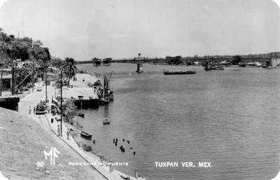"""""""Panorama al puente"""", tarjeta postal"""