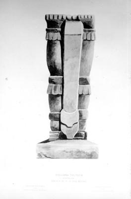 Columna tolteca espalda