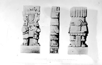 Estatuas existentes en la Hda. de Tlahuelilpa ( E. de Hidalgo )
