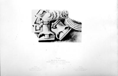 Tula Relieve en barro. Propiedad de D. P. Espinosa