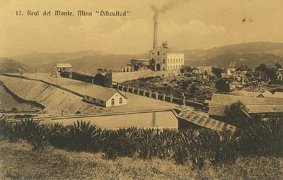 """""""Real del Monte, Mina Dificultad"""", tarjeta postal"""