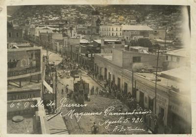 Vista de la pavimentación de la sexta calle de Guerrero