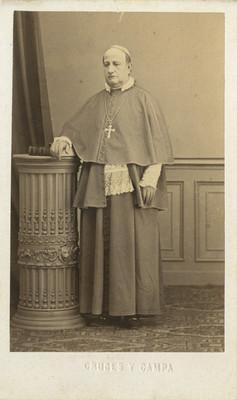 """""""Sr. Ormaechea, Obispo de Tulancingo"""", retrato, tarjeta de visita"""