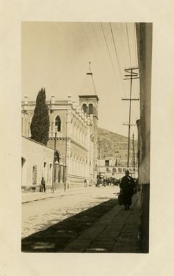 Templo Metodista ubicado en la calle de Allende, exterior, tarjeta postal