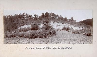 """Poblado, paisaje, """"Front view -Guerrero Mill Site- Real del Monte District"""""""