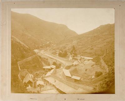 Trabajadores en la mina de San Nicolás, panorámica