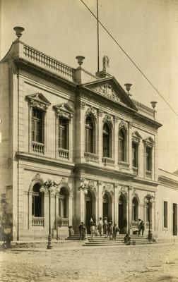 Teatro Bartolomé de Medina, fachada, tarjeta postal