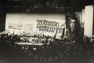 """""""Solidaridad de la Universidad con el movimiento obrero"""", auditorio Che Guevara en la UNAM"""