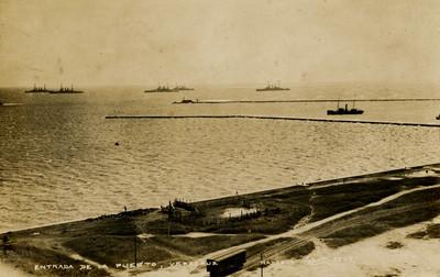 Entrada del puerto de Veracruz