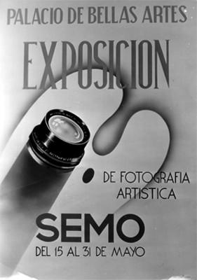 """EXPOSICION DE FOTOGRAFIA ARTISTICA SEMO"", cartel"