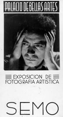 """""""EXPOSICION DE FOTOGRAFIA ARTISTICA SEMO"""" en el """"PALACIO DE BELLAS ARTES"""", cartel"""
