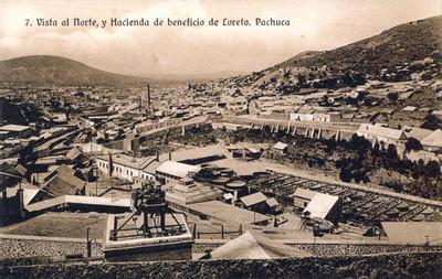 """""""Vista al Norte, y Hacienda de beneficio de Loreto"""", tarjeta postal"""