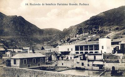 """""""Hacienda de beneficio Purísima Grande"""", tarjeta postal"""