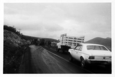 Accidente automovilístico en la carretera Ixmiquilpan-Actopan