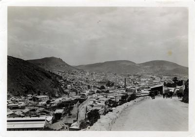 Vista panorámica de Pachuca desde camino a Cerezo