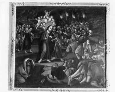 El beso de Judas para entregar a Jesús, cuadro al óleo