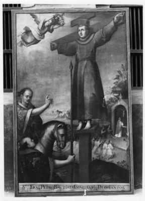 Santo Fray Pedro Bautista comisario de los Santos, lienzo exhibido en Museo Regional de Guadalupe