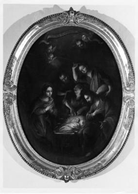 Nacimiento de Cristo con José y María, cuadro al óleo, pintura exhibida en el Museo de Regional de Guadalupe