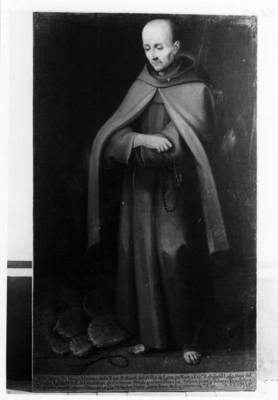 """""""Fray Diego Moreno de Rua"""", cuadro al óleo, exhibido en el Museo Regional de Guadalupe"""