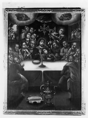 Pintura de la última cena en la Serie de la Pasión de Cristo de José de Ovalle en el Museo Guadalupe