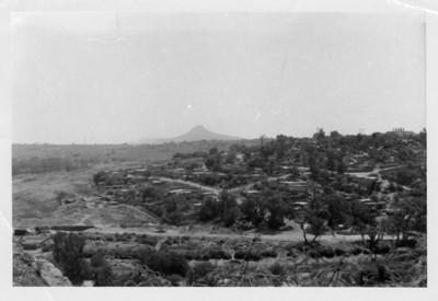 Panorámica del cerro el Tesoro donde se localiza la zona arqueológica de Tula