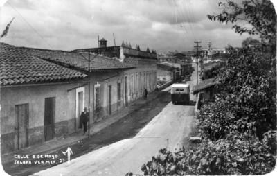 Calle 5 de Mayo de la ciudad de Jalapa