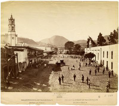 "Calle principal de Tlalmanalco. Estado de México"", ""Principal Street of Tlalmanalco. State of México"