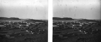 Vista panorámica hacia el puerto de Guaymas, Sonora