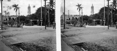 """Vista parcial hacia el """"Palacio municipal"""" de Veracruz"""