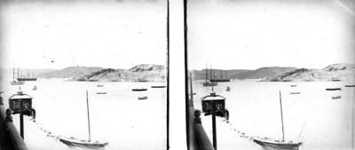 Vista de embarcaciones en el puerto de Guaymas