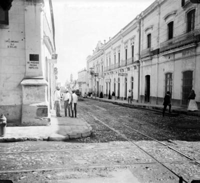 Vista de la calle de Degollado
