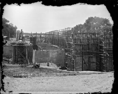 Construcción de una estación de bombeo en Xochimilco