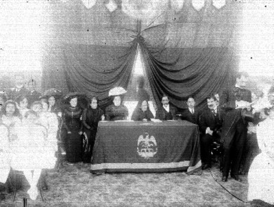 Nieta de Miguel Hidalgo durante una ceremonia