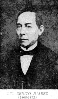 Benito Juarez, retrato, litografia