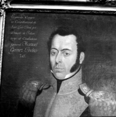 Manuel Gómez Pedraza, Político, Diputado y General; pintura de caballete