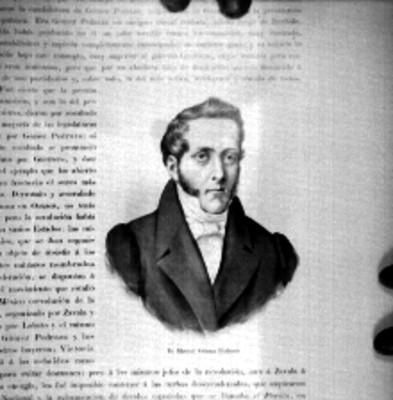 Manuel Gómez Pedraza, General, Político y Diputado; litografía