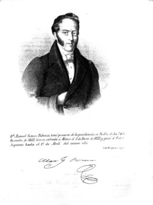 Manuel Gómez Pedraz, General, Político y Diputado; litografía